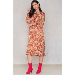 Sukienki: Second Female Sukienka Melt – Orange,Multicolor