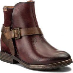 Botki PIKOLINOS - W8M-8919 Garnet. Czerwone buty zimowe damskie Pikolinos, z materiału. W wyprzedaży za 379,00 zł.