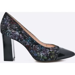 Caprice - Czółenka. Szare buty ślubne damskie marki Kazar, ze skóry, na wysokim obcasie, na obcasie. W wyprzedaży za 159,90 zł.