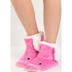 Kapcie damskie: Różowe Kapcie Mousehole
