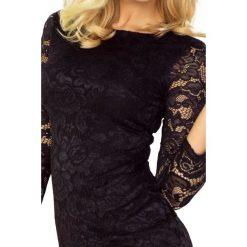 Natalia Sukienka z KORONKI - CZARNA. Czarne sukienki hiszpanki numoco, s, w koronkowe wzory, z koronki. Za 140,22 zł.