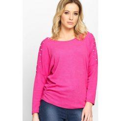 Fuksjowa Bluzka Your Way. Różowe bluzki asymetryczne Born2be, s, z długim rękawem. Za 44,99 zł.