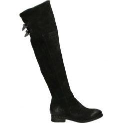 Kozaki - 228305 NERO. Czarne kowbojki damskie Venezia, z nubiku. Za 1099,00 zł.
