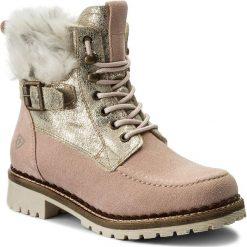 Botki TAMARIS - 1-26076-29 Rose Comb 554. Czerwone buty zimowe damskie marki Tamaris, z materiału, na obcasie. W wyprzedaży za 209,00 zł.