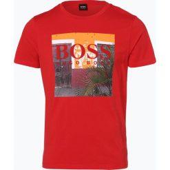 T-shirty męskie z nadrukiem: BOSS Casual – T-shirt męski – Tux1, czerwony