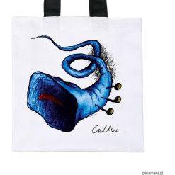 Błękitna trąbka - torba premium (kolory). Niebieskie shopper bag damskie Pakamera, z materiału. Za 79,00 zł.