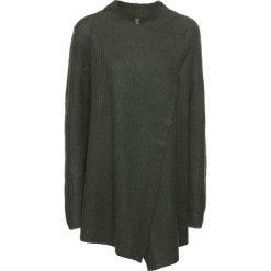 Sweter rozpinany bonprix dymny zielony. Zielone kardigany damskie marki bonprix. Za 37,99 zł.