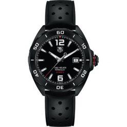 ZEGAREK TAG HEUER Formula 1 Leather Automatic Mens WAZ2115.FT8023. Czarne zegarki męskie marki KALENJI, ze stali. Za 8180,00 zł.