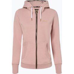 Superdry - Damska bluza rozpinana, różowy. Szare bluzy rozpinane damskie marki Superdry, l, z nadrukiem, z bawełny, z okrągłym kołnierzem. Za 349,95 zł.