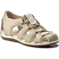 Sandały GEOX - D Sand.Vega D D62R6D 0EK15 C5016 Beige. Brązowe sandały dziewczęce Geox, z materiału. Za 369,00 zł.