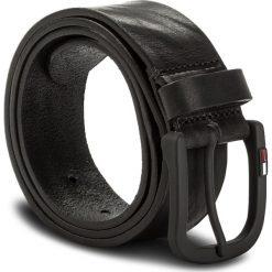 Pasek Męski TOMMY JEANS - Tjm Rubberized Buckle Belt 4.0 AM0AM03285 85 002. Czarne paski męskie marki Tommy Jeans, w paski, z jeansu. W wyprzedaży za 159,00 zł.
