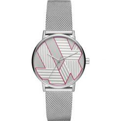 Armani Exchange Zegarek silvercoloured. Szare, analogowe zegarki damskie Armani Exchange. Za 699,00 zł.