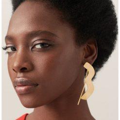 Broszki damskie: Geometryczna broszka redesign – Złoty