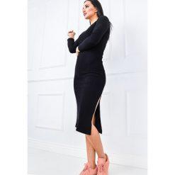 Sukienki: Długa sukienka z rozcięciem