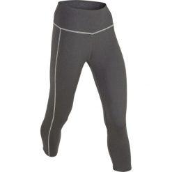 Legginsy sportowe, dł. 3/4, Level 2 bonprix antracytowy melanż. Szare legginsy damskie do fitnessu bonprix, melanż. Za 59,99 zł.