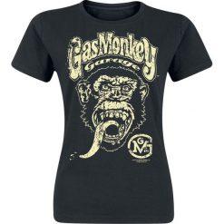Gas Monkey Garage Big Brand Logo Koszulka damska czarny. Czarne t-shirty damskie Gas Monkey Garage, xl, z nadrukiem, z okrągłym kołnierzem. Za 54,90 zł.