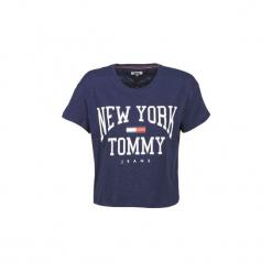T-shirty z krótkim rękawem Tommy Jeans  TJW BOXY NEW YORK TEE. Niebieskie t-shirty damskie Tommy Jeans, l, z jeansu. Za 199,00 zł.