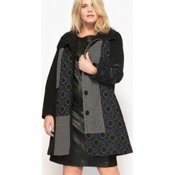 Płaszcze damskie pastelowe: Płaszcz prosty, z nadrukiem