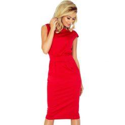 Sukienka z podwyższonym stanem sf-144-2. Czerwone sukienki balowe marki SaF, xl, ołówkowe. Za 139,90 zł.