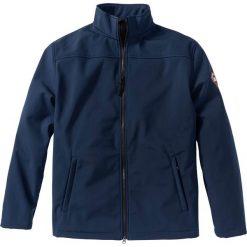 Kurtka softshell Regular Fit bonprix ciemnoniebieski. Białe kurtki męskie marki KIPSTA, z elastanu. Za 69,99 zł.
