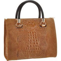 Torebki klasyczne damskie: Skórzana torebka w kolorze brązowym – 31 x 25 x 16 cm