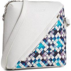 Torebka KAZAR - Carin 24749-01-95 Niebieski. Białe listonoszki damskie Kazar, w kolorowe wzory, ze skóry, przez ramię. W wyprzedaży za 379,00 zł.
