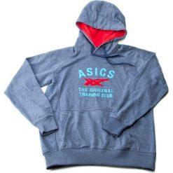 Bluza męska ASICS - Graphic Hoodie 123094 XL Indigo Blue Heather 8118. Niebieskie bluzy męskie Asics, m. W wyprzedaży za 99,00 zł.