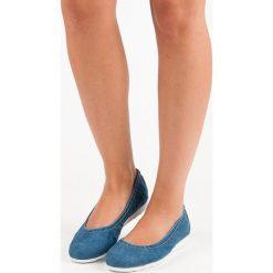 FILIPPO jeansowe baleriny. Niebieskie baleriny damskie lakierowane FILIPPO, z jeansu. Za 109,00 zł.