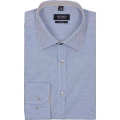 Koszule męskie na spinki: koszula bexley 2342 długi rękaw slim fit niebieski