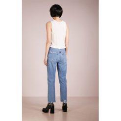 Agolde CIGARETTE LOW SLUNG Jeansy Slim Fit passenger. Niebieskie jeansy damskie relaxed fit Agolde, z bawełny. Za 959,00 zł.