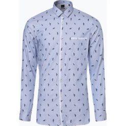 BOSS Casual - Koszula męska – Magneton, niebieski. Niebieskie koszule męskie na spinki BOSS Casual, m, z haftami. Za 299,95 zł.