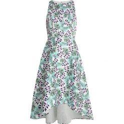Mint&berry Długa sukienka white/green. Białe długie sukienki marki mint&berry, z elastanu, z długim rękawem. Za 419,00 zł.