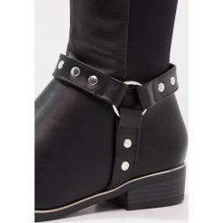 New Look Wide Fit WIDE FIT CANDICANE Kowbojki i Buty motocyklowe black. Czarne buty zimowe damskie marki New Look Wide Fit, z materiału. W wyprzedaży za 206,10 zł.