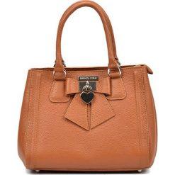 Torebki klasyczne damskie: Skórzana torebka w kolorze koniaku – (S)22 x (W)28 x (G)14 cm