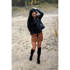 GIRL BUTTON SKIRT spódniczka brązowa. Brązowe spódniczki dziewczęce z falbankami Pakamera, z bawełny, mini. Za 199,00 zł.