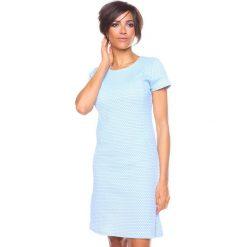 """Sukienki hiszpanki: Sukienka """"Samantha"""" w kolorze błękitnym"""