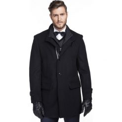 Płaszcz DONATO PSGS000027. Czarne płaszcze na zamek męskie Giacomo Conti, m, z kaszmiru. Za 999,00 zł.