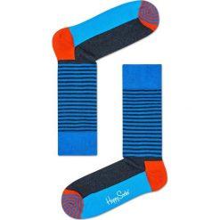 Happy Socks - Skarpety Half Sripe. Szare skarpetki męskie Happy Socks, z bawełny. W wyprzedaży za 27,90 zł.