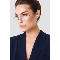 Okulary przeciwsłoneczne damskie aviatory: NA-KD Urban Trapezowe okulary przeciwsłoneczne – Silver