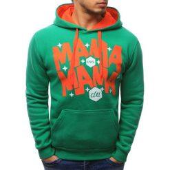 Bluzy męskie: Bluza męska z kapturem zielona (bx1540)