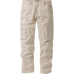 """Spodnie """"bojówki"""" z powłoką z teflonu Regular Fit Straight bonprix piaskowy. Brązowe bojówki męskie bonprix. Za 59,99 zł."""