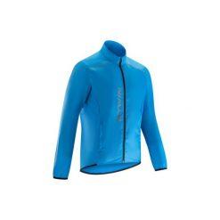 Kurtka przeciwdeszczowa na rower ROADCYCLING 100 męska. Niebieskie kurtki męskie przeciwdeszczowe B'TWIN, m. Za 69,99 zł.