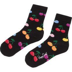 Skarpety Wysokie Unisex HAPPY SOCKS - CHE01-9002 Czarny Kolorowy. Czarne skarpetki męskie Happy Socks, w kolorowe wzory, z bawełny. Za 34,90 zł.