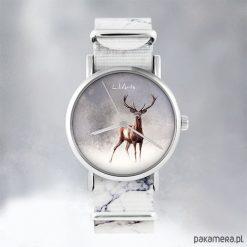 Zegarek - Jeleń 2 - marmurkowy, nato. Szare zegarki męskie Pakamera. Za 129,00 zł.