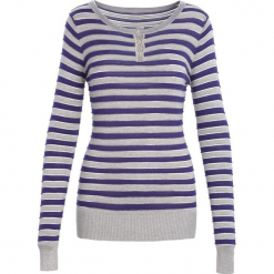 Szaro-Granatowy Sweter Reach Me. Niebieskie swetry klasyczne damskie Born2be, na jesień, m. Za 39,99 zł.