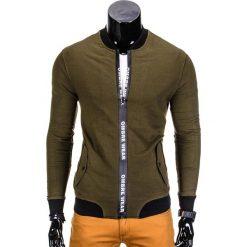 Bluzy męskie: BLUZA MĘSKA ROZPINANA BEZ KAPTURA B681 - KHAKI