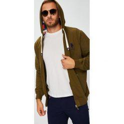 U.S. Polo - Bluza. Szare bluzy męskie rozpinane marki U.S. Polo, l, z bawełny, z kapturem. W wyprzedaży za 439,90 zł.