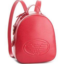 Plecak EMPORIO ARMANI - Y3L024 YH18A 80003 Red. Szare plecaki damskie marki Emporio Armani, l, z nadrukiem, z bawełny, z okrągłym kołnierzem. Za 899,00 zł.