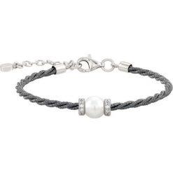 Bransoletki damskie na nogę: Srebrna bransoletka z perłą