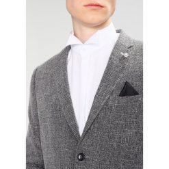 Marynarki męskie slim fit: Burton Menswear London SCRATCH Marynarka grey